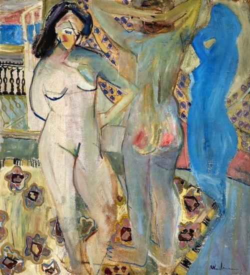 Jakob Weidemann (Norwegian, 1923-2001) - Interior with nudes