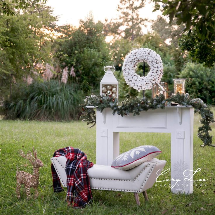 Christmas Mini Session by Cory Lee Photography | Fireplace, Outdoors, Mantle