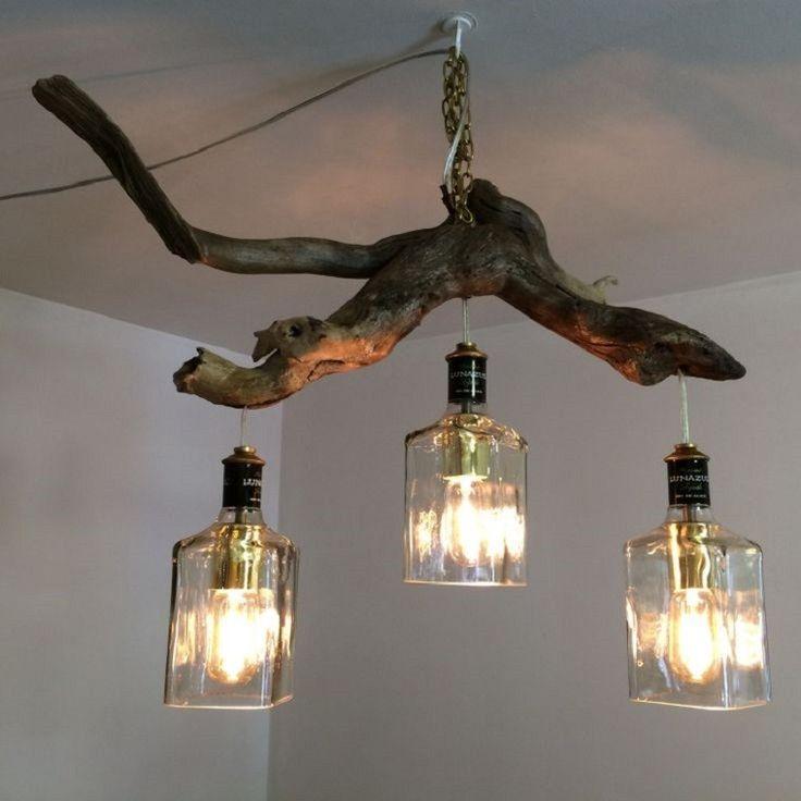 lamparas con tronco recicladas - Buscar con Google