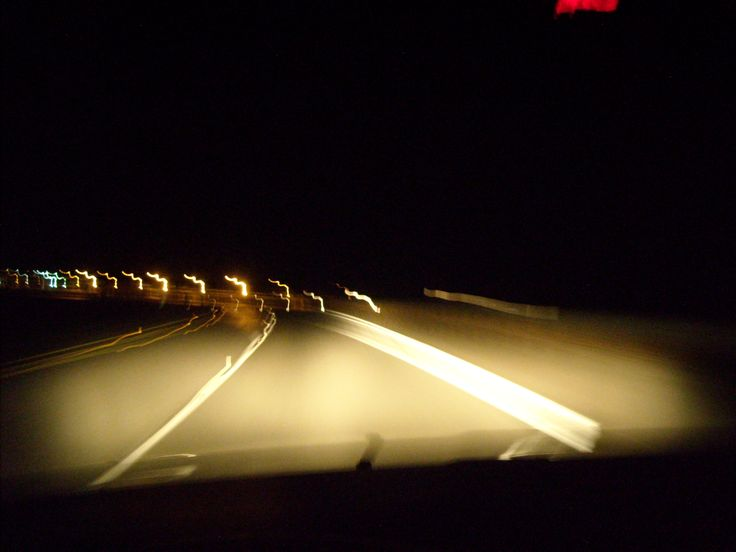 I took this picture and noticed that in a way, it's how drunk drivers see the road. It opened my eyes a bit, even though this shot was taken because i was on a long road trip and had a camera in the passengers seat.