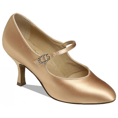 Supadance 1012  Round toe court shoe, shaped upper and strap with oval diamante buckle.  Price: 97.20€