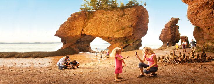 The Hopewell Rocks, Hopewell Cape, New Brunswick Canada