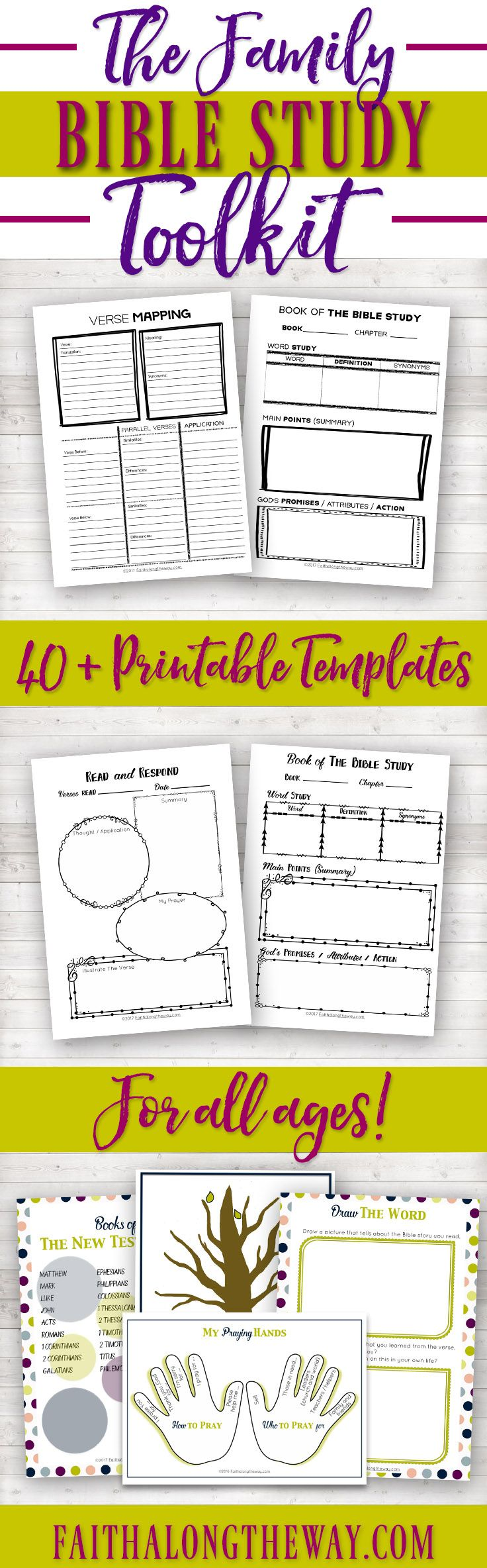 Make Bible study and family devotions SIMPLE & PRACTICAL with the Family Bible Study Toolkit.  Learn how to study the Bible with help from these templates & teach your children to love the Lord. (aff)