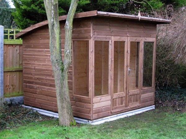 bespoke 8 x 8 garden shed with curved roof in chelmsford essex - Garden Sheds Essex