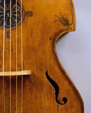 Tenor viola da gamba, 1644 - detail  Ernst Busch  NurembergMusikinstrumentenmuseum der Universität Leipzig