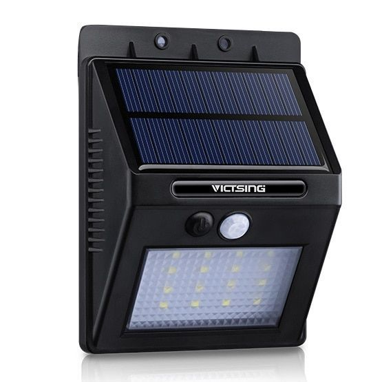 Coutlet 16-LED 320-lumen Solar Motion Sensor Outdoor Security Light with Diamond Lampshade