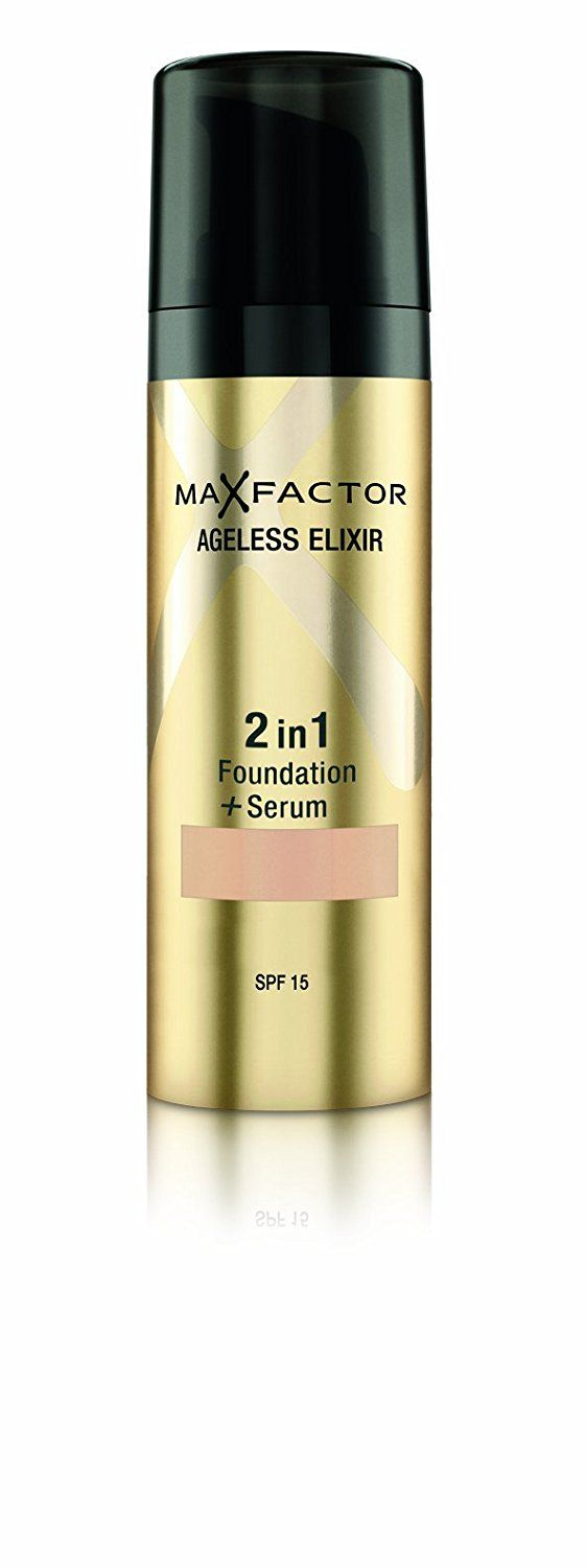 Max Factor Ageless Elixir 2 in 1 Foundation Plus Serum SPF 15, No.60 Sand, 1 Ounce ** See this awesome image  : Makeup