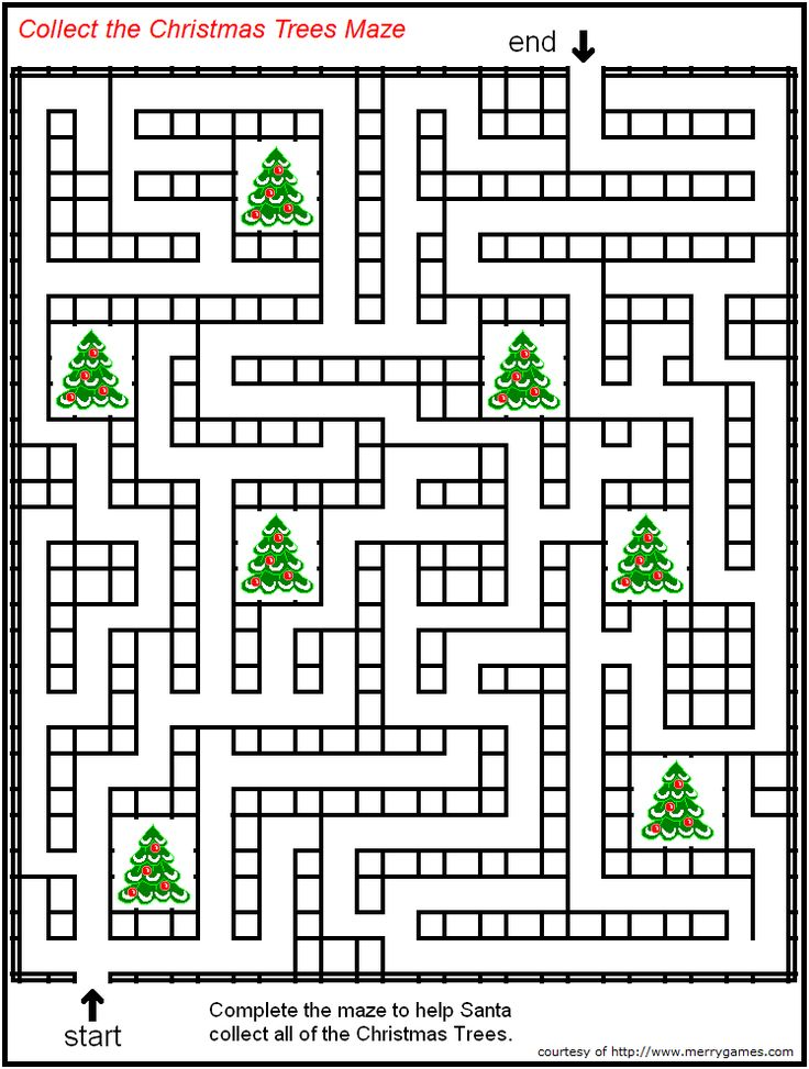 free printable christmas mazes page 2 merry games