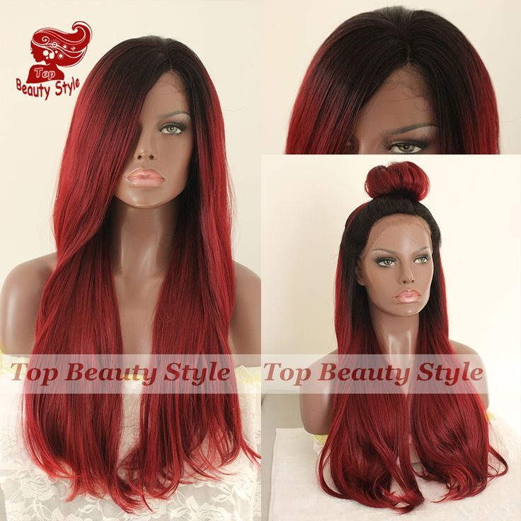 Find More Synthetic Wigs Information about 2016 New fashion style 1b&red natural straight wigs synthetic lace front wigs glueless lace front wigs for black women in stock,High Quality wigs for black women,China wig conditioner Suppliers, Cheap wig stock from Princess hair Co., Ltd  on Aliexpress.com