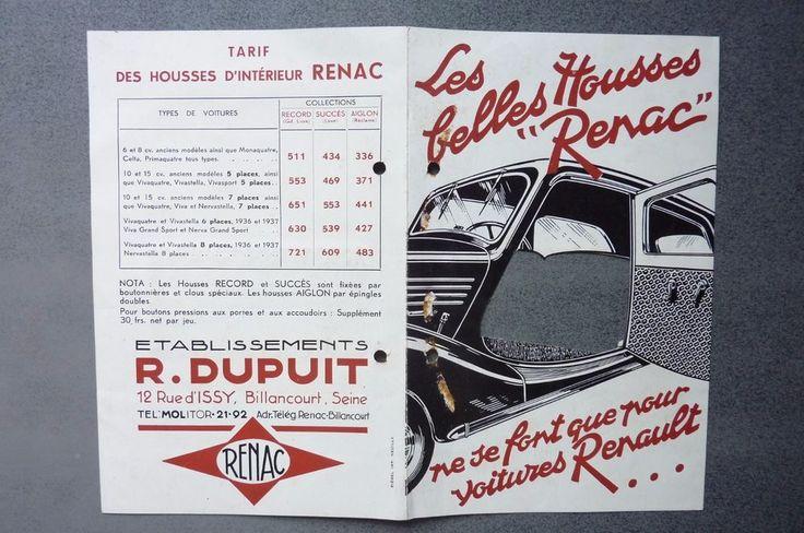 """Les belles  housses """"RENAC """" ne se font que pour les voitures RENAULT"""
