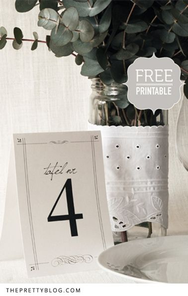 Today's DIY is something almost every wedding needs - table numbers! Nicola did a lovely post a while back with great ideas for DIY table numbers, but today we share a very easy, printable alternative. Great things is, they stand up all by themselves and can be viewed from almost any angle to make spotting your table just that much easier for your guests.