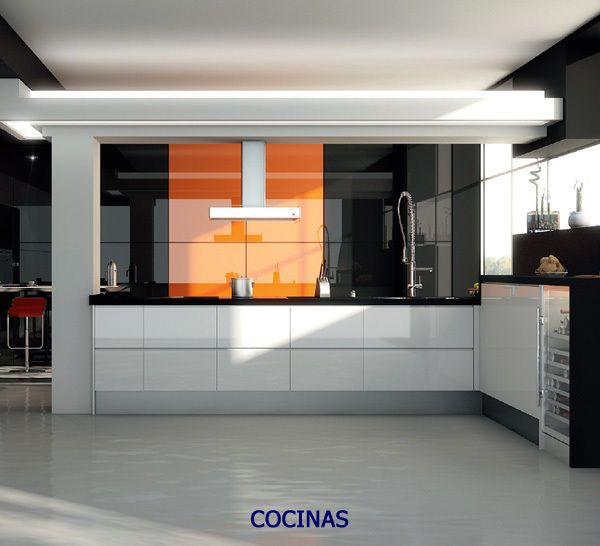 orange high gloss acrylic kitchen cabinet doors/drawer fronts