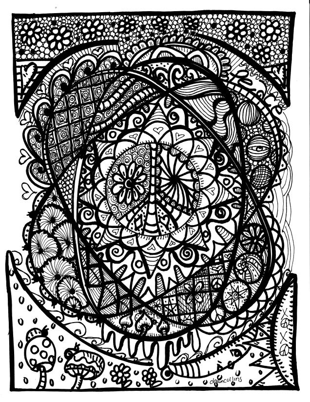 a surreal dreama hippie coloring book by me - Hippie Coloring Book