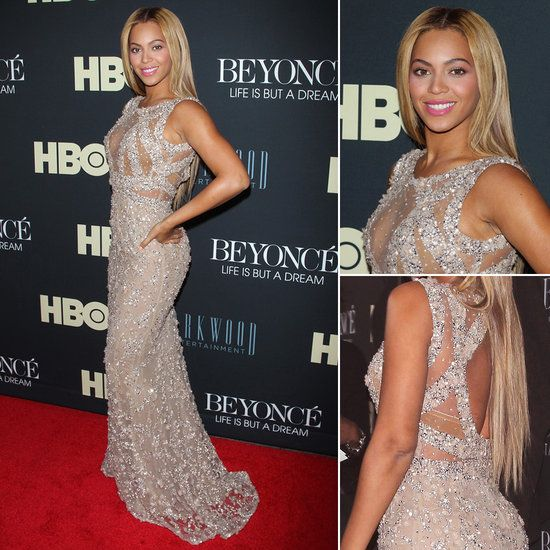 Beyonce's HBO Premiere Red-Carpet Dress. #Elie Saab gown — from the house's Spring 2012 Couture collection —