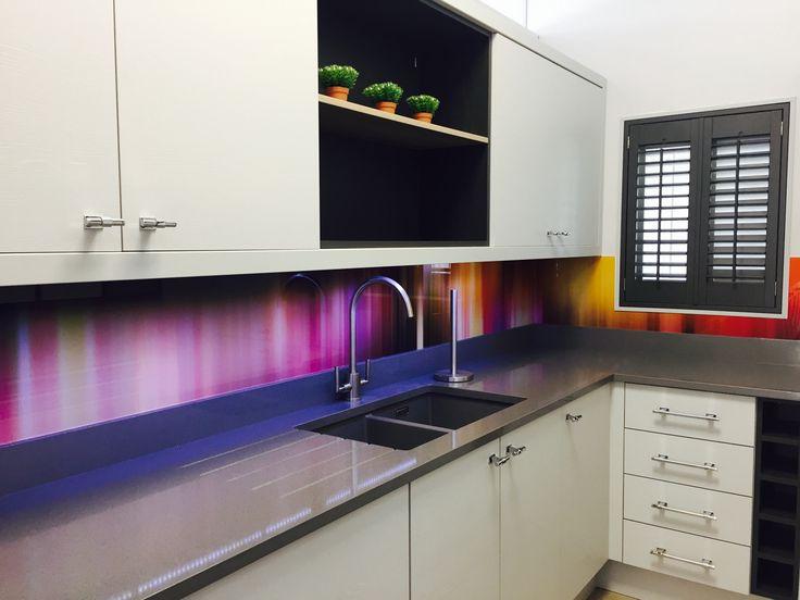 Multi Coloured Printed Glass Splashback From Richard