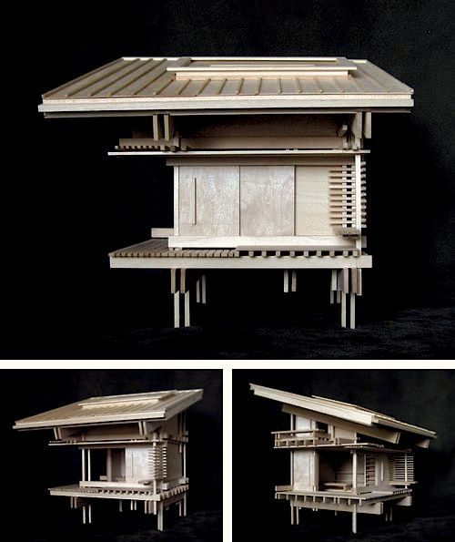 Image result for traditional japanese construction model