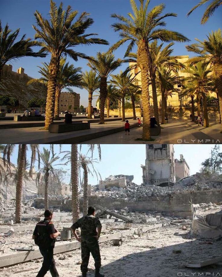 Aleppo..before and after