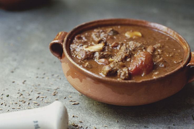 Chipotle Pale Ale Chili made with sirloin, refried beans, and more goodies!