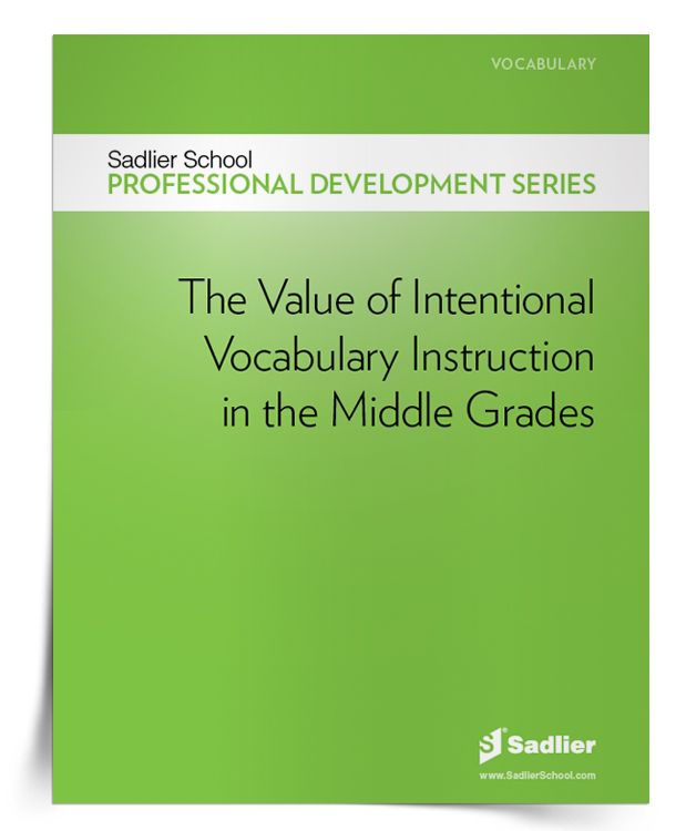 172 best vocabulary resources images on pinterest vocabulary free ebook the value of intentional vocabulary instruction in the middle grades sadlier school fandeluxe Choice Image