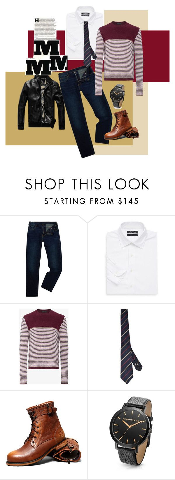 """Thanks giving dinner look"" by kennyhazelwood on Polyvore featuring Armani Jeans, Saks Fifth Avenue, Prada, Gucci, Maison Margiela, men's fashion and menswear"