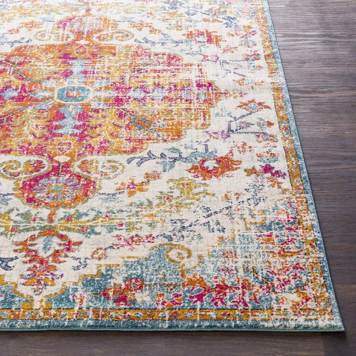 Hillsby Persian Inspired Charcoal Ivory Area Rug With Images