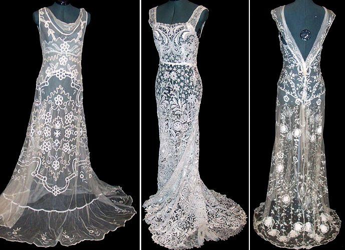 Antique lace gowns