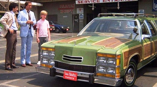 National Lampoon's Vacation (1983). The Wagon Queen Family Truckster is based on a 1979 Ford LTD Country Squire station wagon designed by George Barris for the movie.