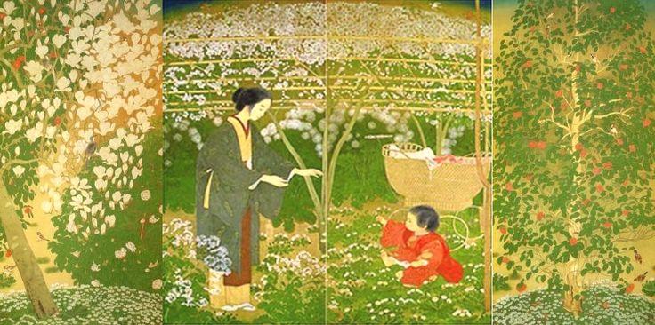 土田麦僊 Tsuchida Bakusen ( 1887 - 1936) 春