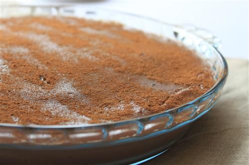 Chocolate milk tart