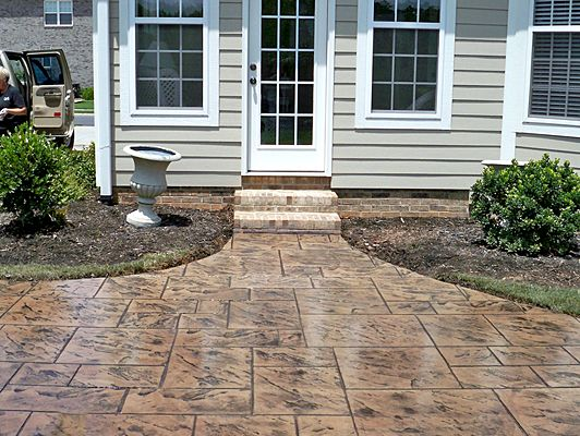 Concrete Stain Ideas Stamped Concrete Colors Stained