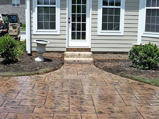 Concrete Stain Ideas Fun In The Garden Concrete Patio