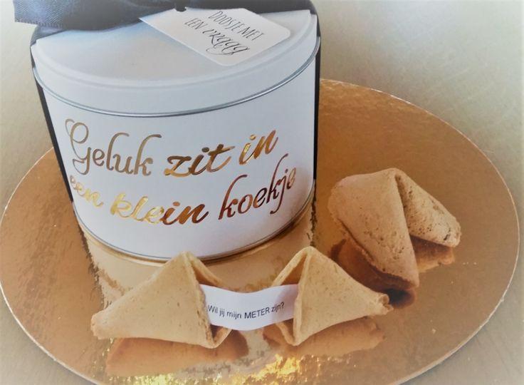 Doosje Wil jij mijn meter zijn? - Fortune Cookies // Gelukskoekje // <3 www.zoetgeluk.be <3