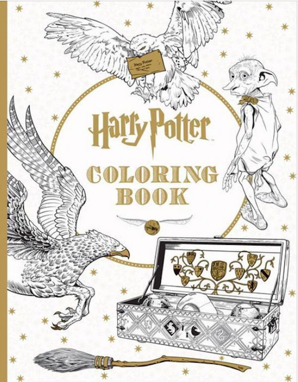 12 Adult Coloring Books For When A Glass Of Wine Isn't Cutting It #HarryPotter #AdultColoringBook #Color #Stress