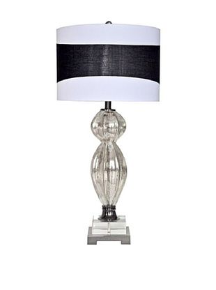 Greenwich Lighting Maiden Table Lamp, Mercury Glass/Crystal