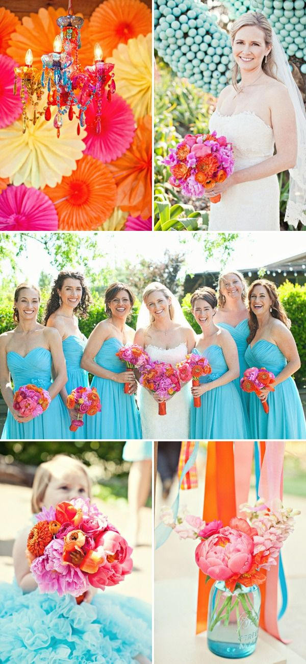 I know, I know. This officially makes me one of those girls who has pinned a wedding w/o being engaged yet... Oh well. The colors are great.