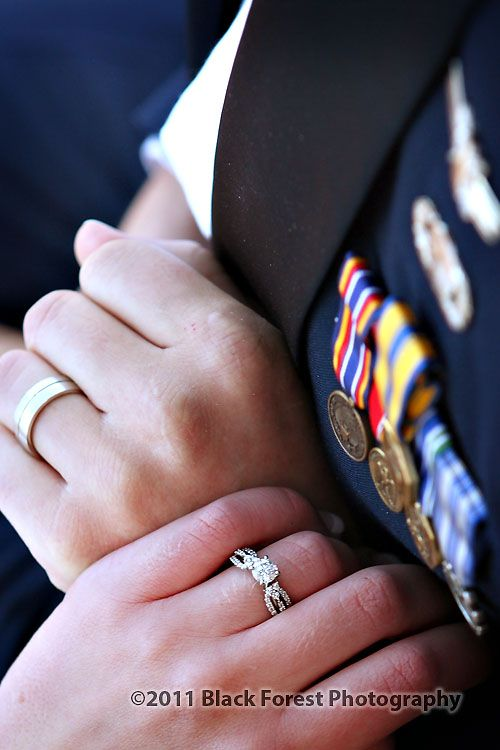 Wedding ring photography. Military wedding at the Air Force Academy in Colorado Springs, Colorado. Photography by: http://www.blackforestphoto.com #wedding #weddingrings #airforceacademyweddings
