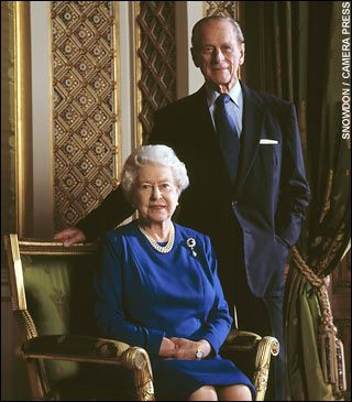 2007  Wedding Anniversary  Queen Elizabeth II  Elizabeth Alexandra Mary   1926 living2013  UK  amp  Prince Phillip Duke of Edinburgh  Philip Mountbatten  born Prince Philip of Greece   1921 living2013  Greece  Photo  Lord Snowdon  Philip  a Naval officer in 1947  was stationed in Malta after they married  amp  they will return there for an anniversary visit
