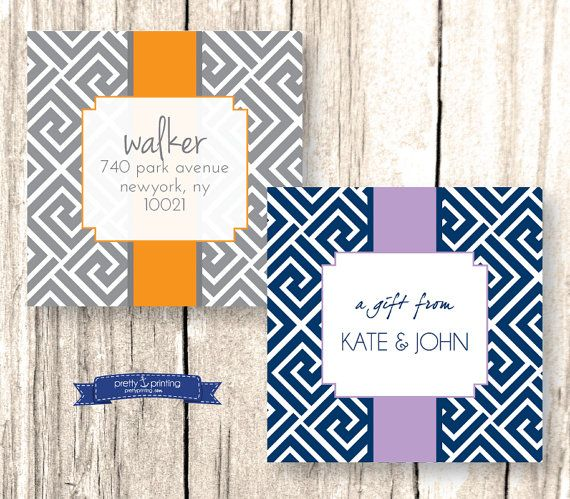 Personalized 2 Square Gift Sticker Set Of 40 Or