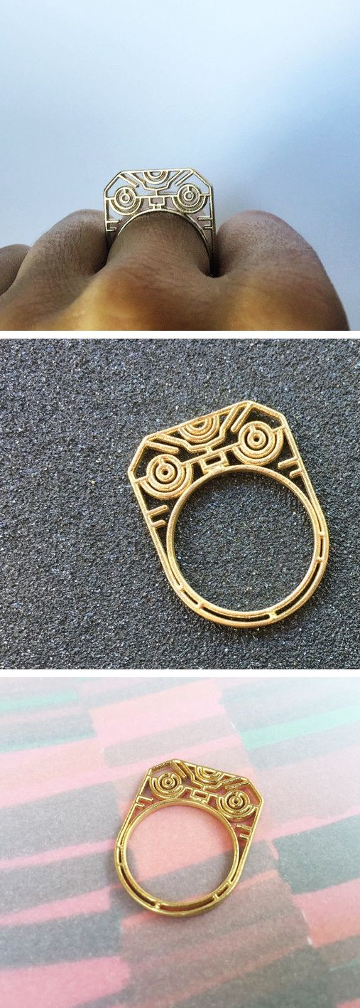 3D printed warrior ring / brass / by Atelier Cayelle / Australian Designer Christmas Gifts on Etsy / For the boho tribal tech-savvy fashionista who has everything