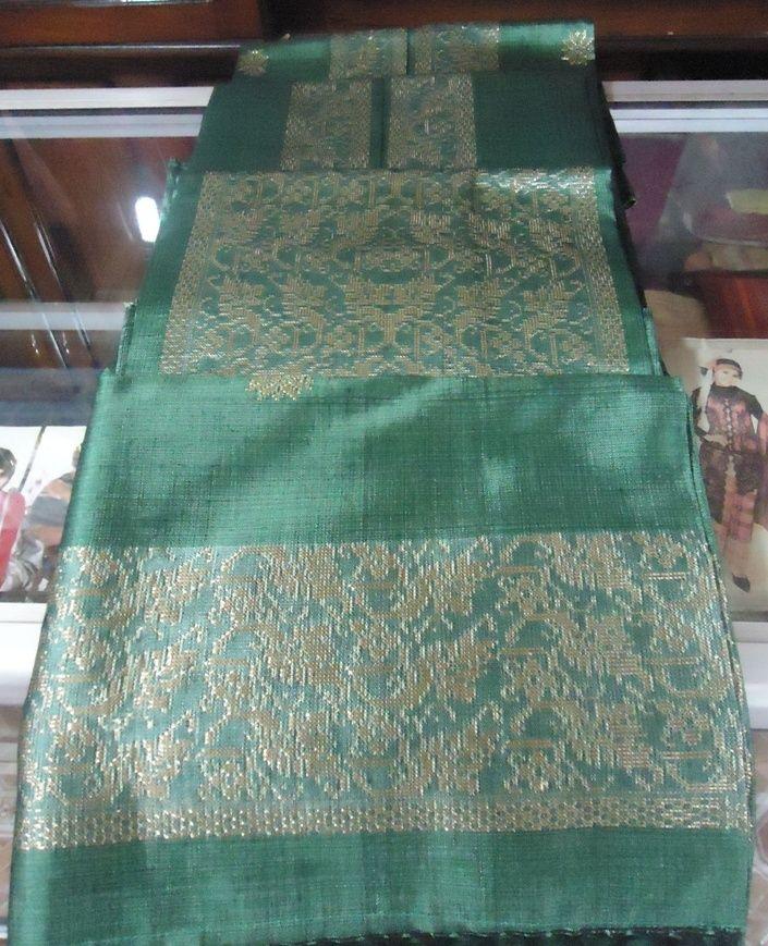 Kain Songket Sarimbit Silungkang - Padang - Minang warna hijau ...