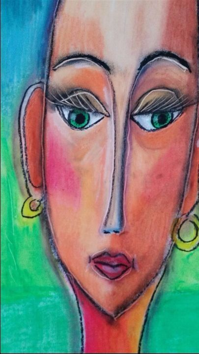 Playing with my oil pastels.check out my webside and get in touch if you want to buy this :-)