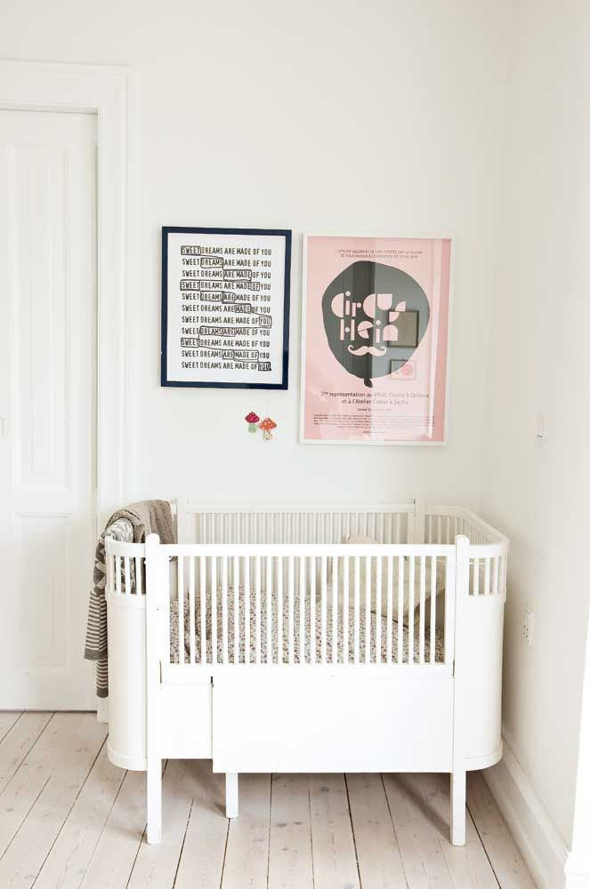 "a lovely nursery from a denmark home- love the ""sweet dreams"" framed art."