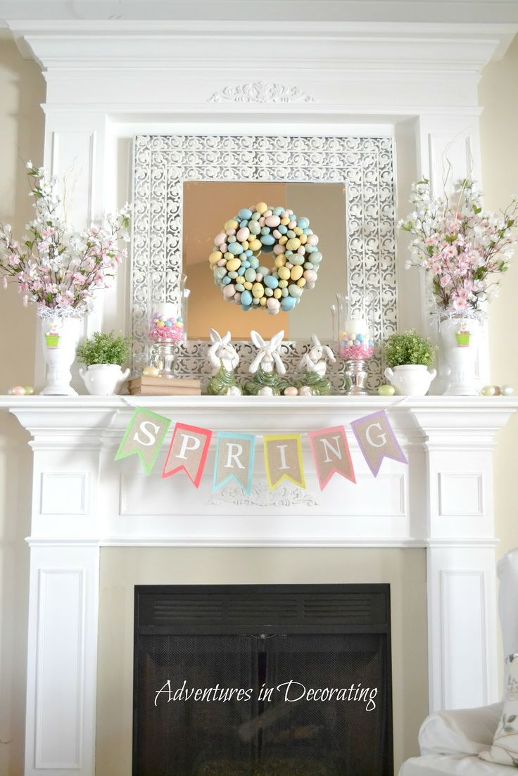 63 best Spring mantels images on Pinterest | Mantle deco ...