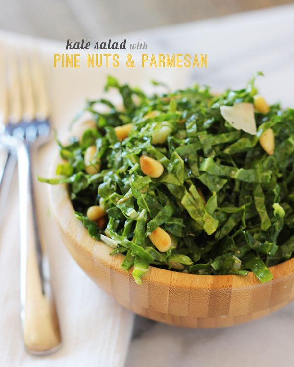 ... nuts pine nuts raw kale salad with balsamic pine nuts and parmesan