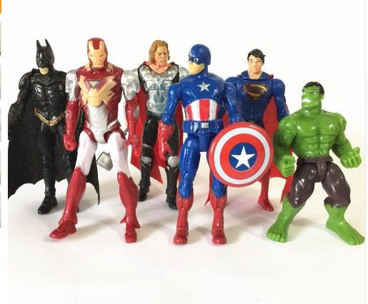 Avengers action figures superhero action figure party cake