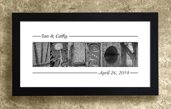 ALPHABET PHOTOGRAPHY PRINT - Personalized Wedding Gift for Couples, Home Decor