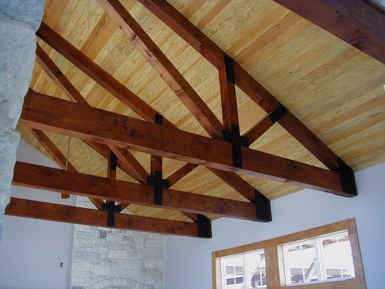 11 best trusses images on pinterest timber frames wood for Pre engineered trusses