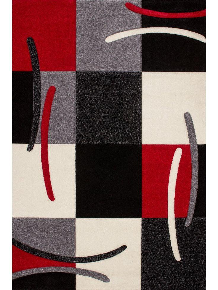 Obsession alfombra moderna california rojo 120x170 cm - Alfombras de pasillo modernas ...