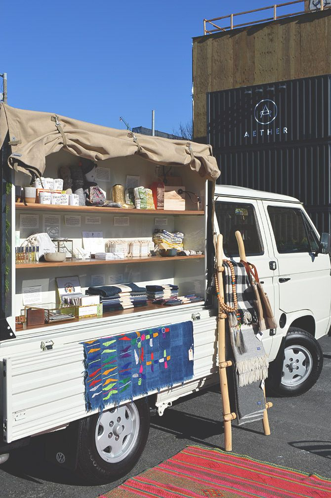 Half Hitch Goods rolling store + pop-up shop // via Spotted SF