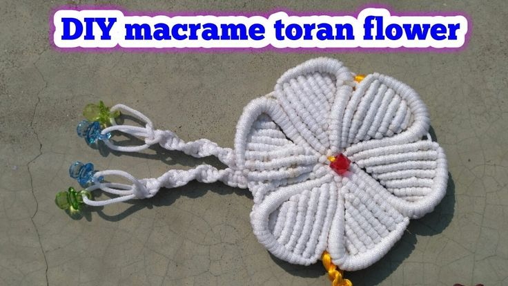 Macrame toran flower tutorial/macrame patterns/macrame/macrame knot/macr...